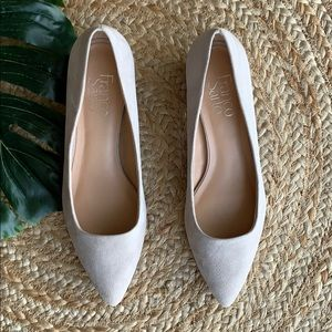 NWOT Franco Sarto pointed toe suede beige leather